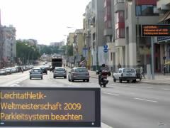 Verkehrsführung/Parkleitsystem zur Leichtathletik-WM am Spandauer Damm