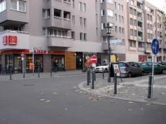 Einfahrt vom Klausenerplatz/Gardes-Du-Corps-Straße in die Danckelmannstraße gesperrt