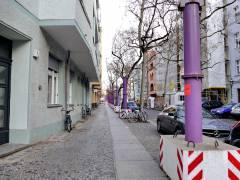 Vorbereitungen zur Rohrverlegung in der Neuen Christstraße für eine geplante Grundwasserabsenkung (November 2016)