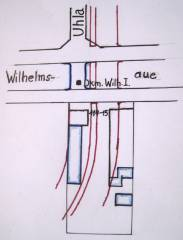 Skizze der Veränderungen am Grundstück Wilhelmsaue 114-115