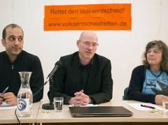 """Pressekonferenz der Initiativen """"Hände weg vom Volksentscheid"""" am 11.02.2016 / Foto © Frank Wecker"""