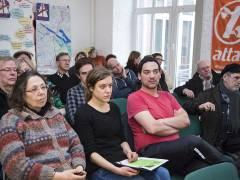 """Vertreter der Initiativen """"Hände weg vom Volksentscheid"""" auf der Pressekonferenz am 11.02.2016 / Foto © Frank Wecker"""