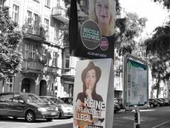 Wahlplakate im Klausenerplatz-Kiez