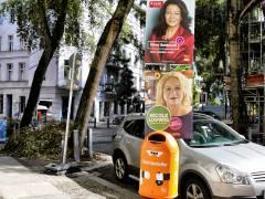 Wahlplakate im Klausenerplatz-Kiez in Charlottenburg