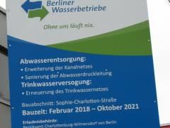 Arbeiten zum Neubau des Abwasserpumpwerks Charlottenburg