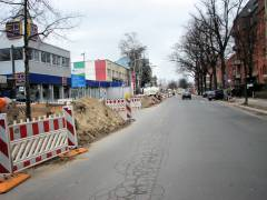 Arbeiten zum Neubau des Abwasserpumpwerks Charlottenburg (März 2018)