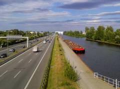 Westhafenkanal und Stadtring in Charlottenburg