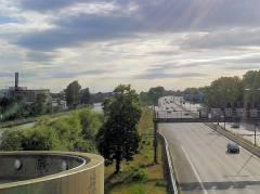 Westhafenkanal und Stadtautobahn in Charlottenburg