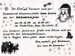 Vorweihnachtliches Nachbarschaftsfest im MieterClub