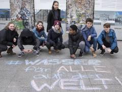 Demonstration von Berliner Schülern zum Weltwassertag / Foto © Frank Wecker