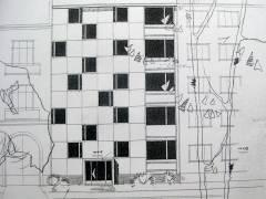 Fassadenentwurf aus der Bauakte. Mit freundlicher Genehigung der Eigentümer