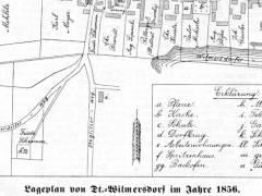 Lageplan von Deutsch-Wilmersdorf im Jahr 1856 / Quelle - © Museum Charlottenburg-Wilmersdorf
