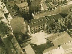 Luftaufnahme der Wilhelmsaue um 1935 / Foto Firmenarchiv der Druckerei Heenemann