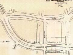 Ausführungsentwurf für den Ausbau der Uhlandstraße (1959) / Foto Firmenarchiv der Druckerei Heenemann