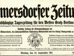 Wilmersdorfer Zeitung (1905 bis 1912) / Foto Firmenarchiv der Druckerei Heenemann