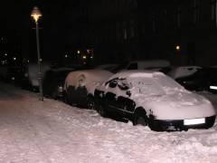 Autos im Winterschlaf