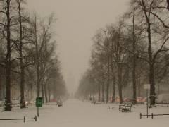 Winter im Kiez - die Schloßstraße (HDR Foto) am 16.12.2009