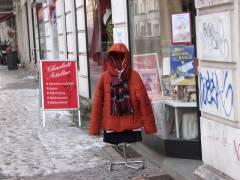 von angesagter Kleidung beim Atelier in der Nehringstraße