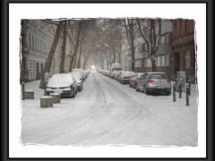 Winter im Kiez - die Christstraße (HDR Foto) am 16.12.2009