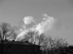 Winterrauch über dem Klausenerplatz
