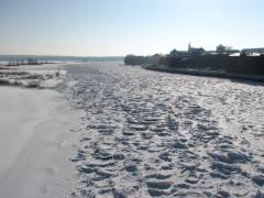 Winterlandschaft an der Oder