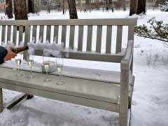 Winter-Picknick im Schloßpark