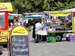 Wochenmarkt auf dem Klausenerplatz