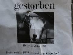 Nachruf im Ziegenhof - Ostersonntag 2008