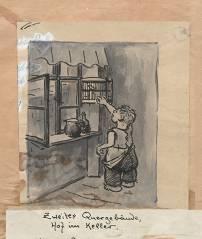Heinrich Zille - Junge am Vogelbauer – Zweites Quergebäude, Hof im Keller (um 1924) / © Stiftung Stadtmuseum Berlin