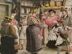 """Heinrich Zille """"Kneipe mit sich unterhaltenden Frauen"""" / Bildquelle www.zeno.org"""