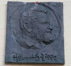 Gedenktafel an Heinrich Zille am Haus der Jugend Charlottenburg in der Zillestraße