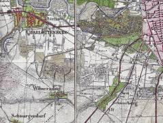 Karte von 1842 / Bildquelle Zentral- und Landesbibliothek Berlin (ZLB)/Wikipedia]