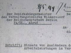 Anweisung des stellvertretenden Bürgermeisters von Wilmersdorf (1944)