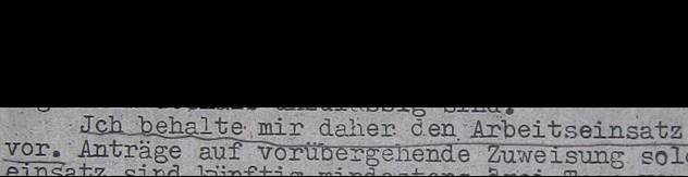 Ausschnitt aus einem Schreiben des Bezirksbürgermeisters des Verwaltungsbezirks Wilmersdorf vom 30. April 1944 / Quelle - Archiv Museum Charlottenburg-Wilmersdorf